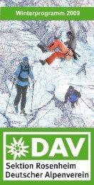 Winterprogramm 2009 - Sektion Rosenheim