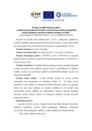 """Eiropas Sociālā fonda projekts """"Atbalsta programmu ... - Smiltene"""