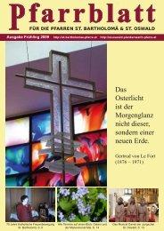 Frühling 2009 - der Pfarre St. Bartholomä