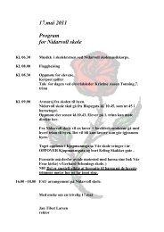 17.mai 2011 Program for Nidarvoll skole - itslearning