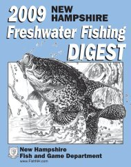 2009 N.H. Freshwater Fishing Digest - New Hampshire Fish and ...