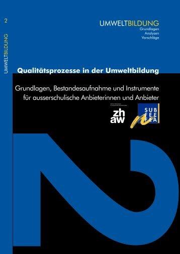 Qualitätsprozesse in der Umweltbildung - Grundlagen ...