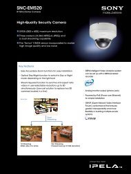 SNC-EM520 - Sony Professional Solutions Asia Pacific