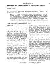 Transdermal Drug Delivery: Penetration Enhancement Techniques