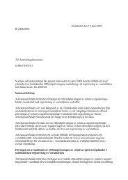 Officialprövningens omfattning vid registrering av varumärken och ...