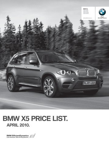 Download price list - BMW South Africa