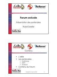 Forum avicole - Aviforum