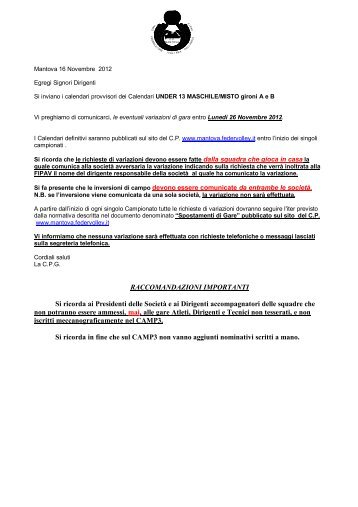 Calendario Fipav.Invio Calendario Provvisorio Under 19 Maschile Fipav