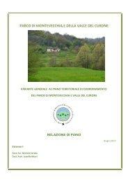 Relazione di piano - Parco di Montevecchia e della Valle del Curone