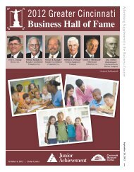 2012 Greater Cincinnati - The Business Journals