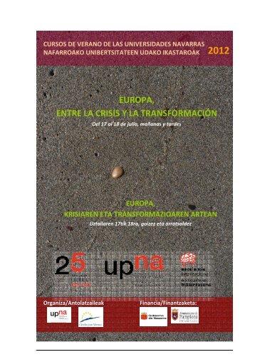 Descargar programa - Universidad Pública de Navarra