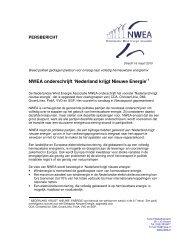 Persbericht Nederland krijgt Nieuwe Energie 16 maart 2010 ... - NWEA