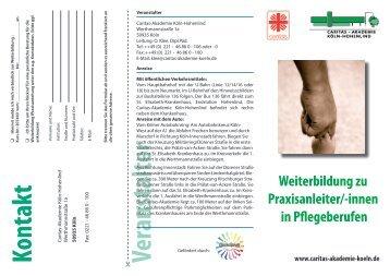 Veranstalter Weiterbildung zu Praxisanleiter - Caritas-Akademie Köln