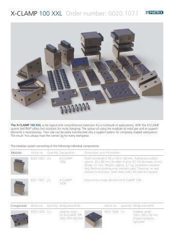 X-CLAMP 100 XXL Order number: 0020.1071 - Matrix GmbH