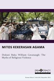 MITOS KEKERASAN AGAMA - Democracy Project