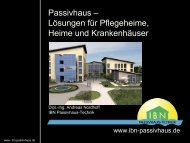 Passivhaus – Lösungen für Pflegeheime, Heime und Krankenhäuser