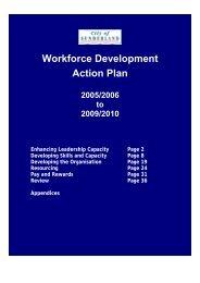 Workforce Development Action Plan - Unison City of Sunderland
