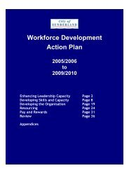 Workforce Development Action Plan - Unison City of Sunderland