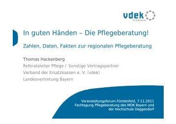 In guten Händen – Die Pflegeberatung! - MDK Bayern