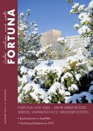 Nr. 04/2011 - FORTUNA Wohnungsunternehmen eG