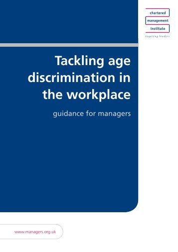 Tackling age discrimination in the workplace