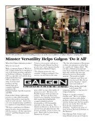 Galgon Industries, Inc. - Minster Machine Company