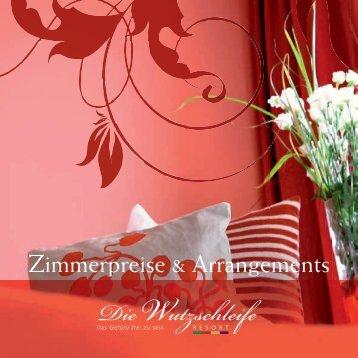 Zimmerpreise & Arrangements - Die Wutzschleife