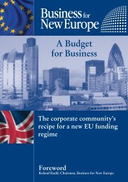 A Budget for Business - Business for New Europe