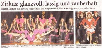 Zirkus: glanzvoll, lässig und zauberhaft - Bürgerverein Ellwürden eV
