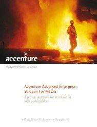 Accenture Advanced Enterprise Solution for Metals
