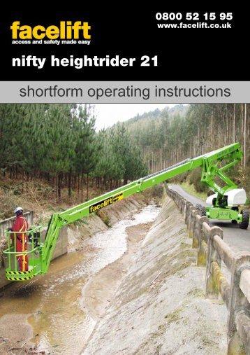 HR21 Operators Manual - Facelift