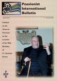 Passionist International Bulletin