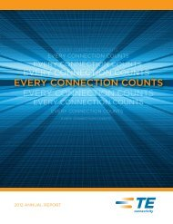 2012 Annual Report - TE Connectivity
