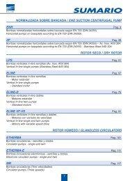 CENTRIFUGAL PUMP according to EN 733 (DIN 24255) - tubtec