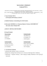 Sprawozdanie z działalności Fundacji WENA - Wyszukiwanie ...