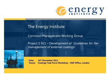 The Energy Institute - OGP activities home