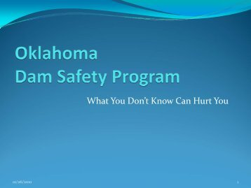 Dam Safety Program - Water Resources Board