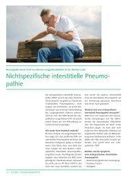 Nichtspezifische interstitielle Pneumopathie - CHUV