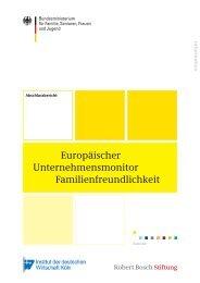 Europäischer Unternehmensmonitor Familienfreundlichkeit