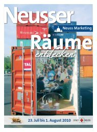 Neusser Räume entdecken - 23. Juli bis 1 ... - Neuss Marketing