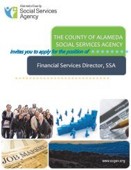 THE COUNTY OF ALAMEDA SOCIAL SERVICES ... - JobAps