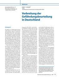 Verbreitung der Gefährdungsbeurteilung in Deutschland