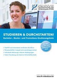 STUDIEREN & DURCHSTARTEN! - Fachhochschule des Mittelstands