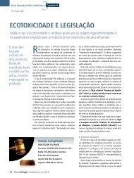 ECOTOXICIDADE E LEGISLAÇÃO - Revista O Papel