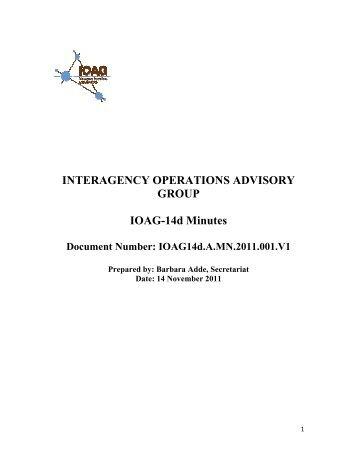 IOAG14d.A.MN.2011.001.V1 - Interagency Operations Advisory Group