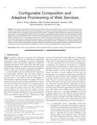 Configurable Composition and Adaptive Provisioning of Web Services
