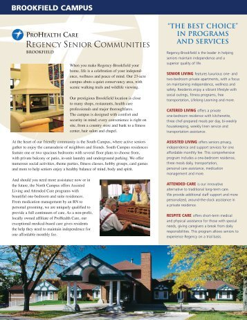 Brochure [PDF - 996K] - Regency Senior Communities