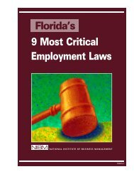 How to Defuse t Laws Florida's 9 Most Critical Employment Laws