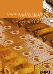 double pilot operated check valves valvole di blocco pilotate a ...