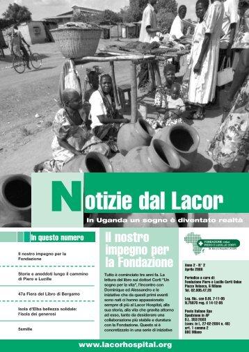 Notizie_dal_Lacor_2006_apr.pdf - Fondazione Corti